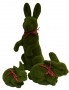 Faux green grass rabbit