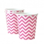 Chevron Hot Pink Cups