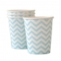 Chevron Blue Cups