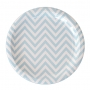Chevron Blue 23cm Dinner Plates